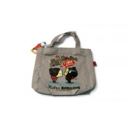 Sac Shopping Pucca Rétro i Love Pucca Gris
