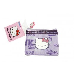 hello kitty porte monnaie souple violet