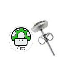 boucles d oreilles 10 mm 1up supermario