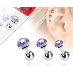 Lot 3 piercing tragus pierre tanzanite