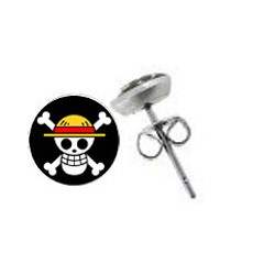 Boucle d oreille 10mm logo pirate one piece