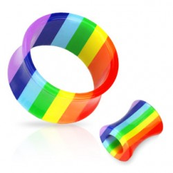 plug tunnel coloris gay pride 22 mm