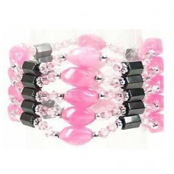 Bracelet magnetique estelle rose