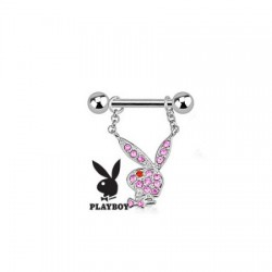 piercing téton playboy rose