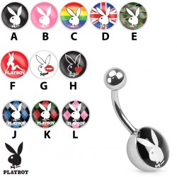 Piercing nombril playboy bunny camouflage