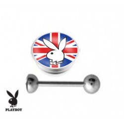 Piercing langue playboy anglais
