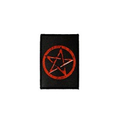 patch pentagramme rouge fond noir