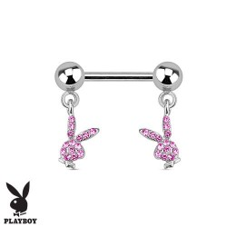 piercing téton playboy double bunny rose