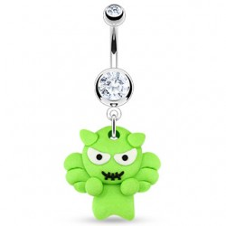 piercing nombril  style manga personnage vert