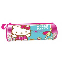 Trousse ronde hello kitty a la plage
