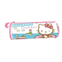 Trousse ronde hello kitty a la mer