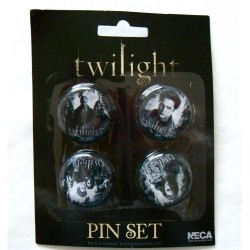 Twilight -  set de 4 Badge Edward et Bella
