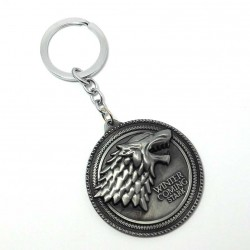 Porte clefs metal game of throne stark winter is coming
