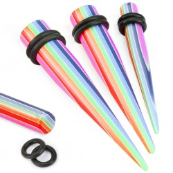 Piercing ecarteur droit gay pride 10 mm