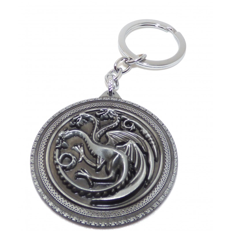 Porte clefs metal game of throne maison Targaryen