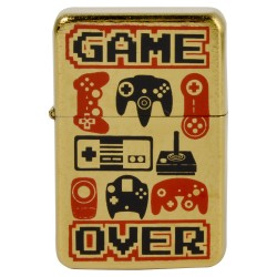 Briquet geek game over manette jeux videos