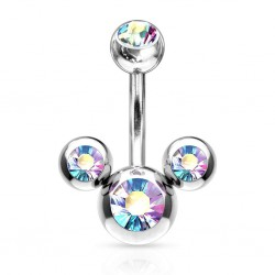 piercing nombril mickey cz...