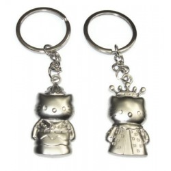 porte clefs duo amoureux style hello kitty