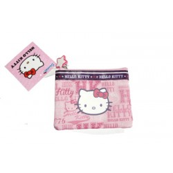 hello kitty porte monnaie souple rose