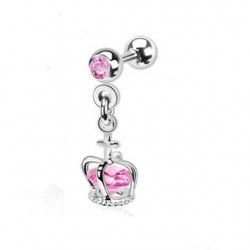 piercing tragus couronne rose