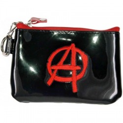 grand porte monnaie logo anarchy rouge