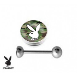 Piercing langue playboy bunny camouflage