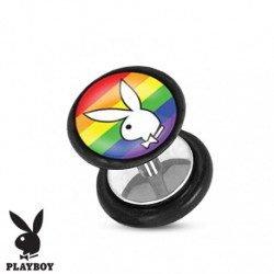 faux plug playboy bunny gay pride