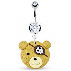 piercing nombril  style manga ourson pirate