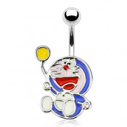 piercing nombril manga doraemon