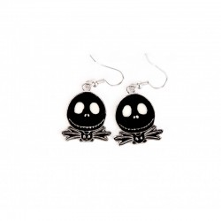 Boucles d'oreilles nightmare before christmas jack noire