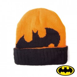 Batman Bonnet noir et orange batman