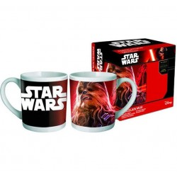 Mug star wars  chewbacca + 1 sous tasse 3d episode 7