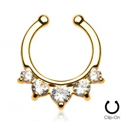 Faux piercing nez septum or