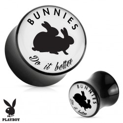 écarteur logo Playboy 10 mm bunny  coquin do it better
